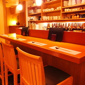 カウンターはデートにぴったり。接待やデート、記念日や誕生日などの特別な日のお食事にどうぞ…