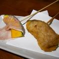 豚巻き南瓜串…ホクホクの南瓜が美味い!