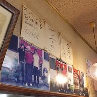 有名人が食して称した【帯麺】★壁にはサインや写真あり
