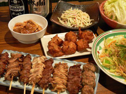 料理8品2時間飲み放題付き2800円(税別)コース