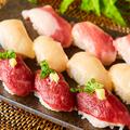 料理メニュー写真肉寿司 3種盛り合わせ