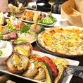2時間飲み放題付き宴会コースは3000円(税込)~ご用意しております!人気の前菜盛り合わせや自家製ピザ、鶏グリルが入った充実な内容です。飲み放題メニューも種類が豊富で、色々なドリンクをお楽しみいただけます。女子会、宴会などに是非♪