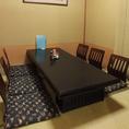 半個室6名テーブル1卓