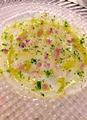 料理メニュー写真剣先イカと天然平目のカルパッチョ