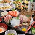 宴会コースは4000円(税抜)~!飲み放題付きでとってもお得!旬の海の幸をふんだんに使用した海鮮料理は大満足のボリュームです。