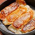 料理メニュー写真ハルマキ/水ギョーザ/焼きギョーザ/中華揚げパン