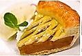 料理メニュー写真りんごパイのバニラアイス添え