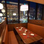 札幌駅も見える夜景テーブル席!