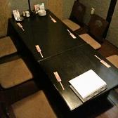 2階席のお座敷です。写真では6名様席になっていますが、仕切りを外すと18名様~22名様までご案内が可能です。