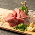 料理メニュー写真A4黒毛和牛黒火乃牛のタタキ