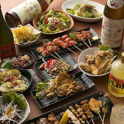 ★2h食べ飲み放題3,000円★ 焼鳥、ご飯系、スイーツも食べ放題&生ビールも飲み放題!
