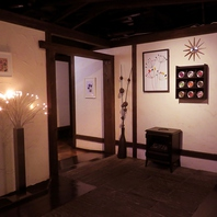 落ち着いた雰囲気の掘りごたつ個室。