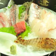 朝獲れの鮮魚