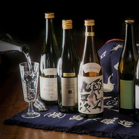 色とりどりの焼酎・日本酒