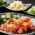 料理メニュー写真キムチ3種盛合せ(白菜・胡瓜・カクテキ)※単品OK