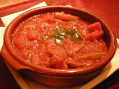 牛モツ(トリッパ)のトマト煮込み