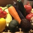 肉・魚そしてお野菜!様々なお野菜を炉端焼きでどうぞ。