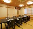 ◆個室・大人5名様より個室をご利用いただけます(要予約)。お気軽にご相談ください