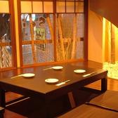 落ち着いた雰囲気が様々なお客様支持されている、掘りごたつ席です。床暖房有り。