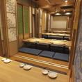 8名/16名/24名/32名と、仕切りで部屋の広さを調整できるので、様々な規模のご宴会に対応可能です!