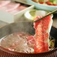 """近江牛の味と香りが引き立つ""""近江牛すき焼き""""は当店自慢の逸品です"""