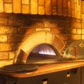 お店には大きな窯を御用意しています!アツアツのピザをご提供します!
