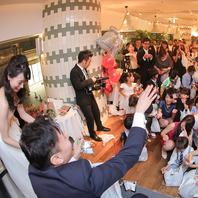 結婚式や1.5次会・二次会にもおすすめのこだわり空間♪