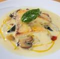 料理メニュー写真白身魚ときのこの軽い煮込み