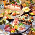 【宴会コースは飲み放題付】旨い海鮮と旬の食材にこだわり。牛久駅付近での食事・飲み会にぴったり♪お手頃価格でお楽しみいただけるお得なコース各種ご用意。牛久駅より徒歩1分の当店個室で、ゆったり宴会・お食事会はいかがですか♪季節の食材をふんだんに使用したお料理をご用意しております♪飲み放題付で更にお得に!