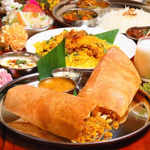南インドをそのままお届け♪ヘルシ―なお料理から、がっつりなお肉料理も♪