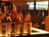 種類豊富な焼酎・日本酒
