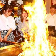 自分で鰹のタタキが作れちゃう!?藁焼き体験実施中!