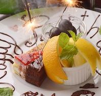 お誕生日・記念日サプライズに自家製デザートプレート