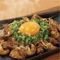 料理メニュー写真鶏ホルモン鍬焼き 白/黒