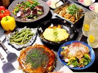 豪快なボリュームの野菜たっぷり広島焼がおすすめ★