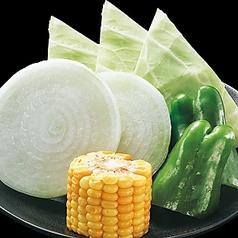 とうもろこし焼/焼き野菜盛り