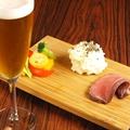 料理メニュー写真選べるクラフトビール1杯+おつまみ3種