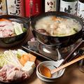料理メニュー写真自家製出汁 鶏もも一本炊きの地鶏水炊き鍋
