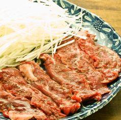 料理メニュー写真元祖 ネギ塩カルビ (アメリカ産牛肉使用)