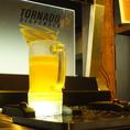 新導入のビールサーバー!下から勢いよく注がれるビールは新感覚★冷たくて美味しいビールをお楽しみください♪
