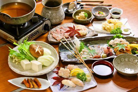 旬のお魚おススメコース(4500円/人〜 2名様以上)