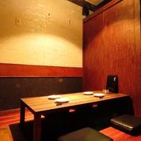 2名/4名/6名…50名までの和の個室空間は宴会や接待に◎