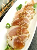 鶏たたきの梅ジュメ/550円
