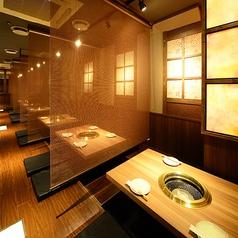 簾で仕切られた半個室席(2~4名様)