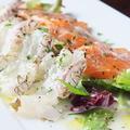 料理メニュー写真築地直送鮮魚のカルパッチョ/本日の気まぐれマリネ/ツブ貝と季節野菜のガーリックバターソテー