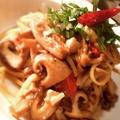 料理メニュー写真ポルチーニ茸と色々キノコのオイルソース