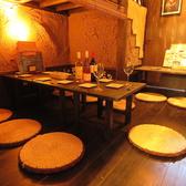 くつろぎやすい空間で美味しい創作料理とお酒、そして語らいの時間をお過ごしください