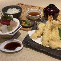 海老天ぷらとお造り膳1290円(税抜)