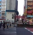 大通り(靖国通り)の信号を渡って『左』へ曲がります。