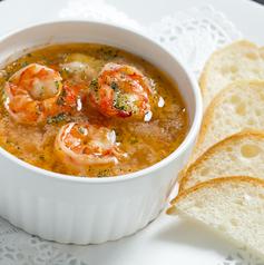 料理メニュー写真海老と季節野菜のアヒージョ